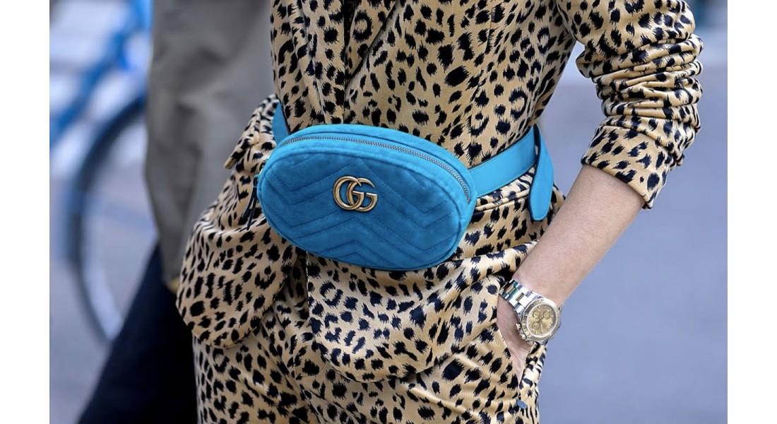 Поясная сумка в женском образе
